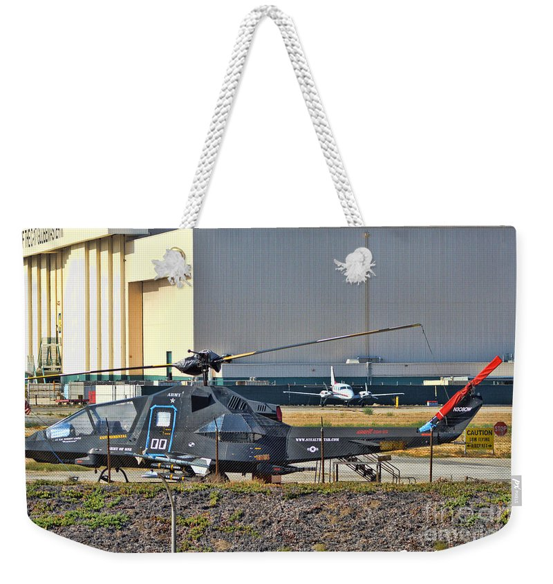 Stealth Weekender Tote Bag featuring the photograph Stealth Air Attack Helicopter by Tommy Anderson