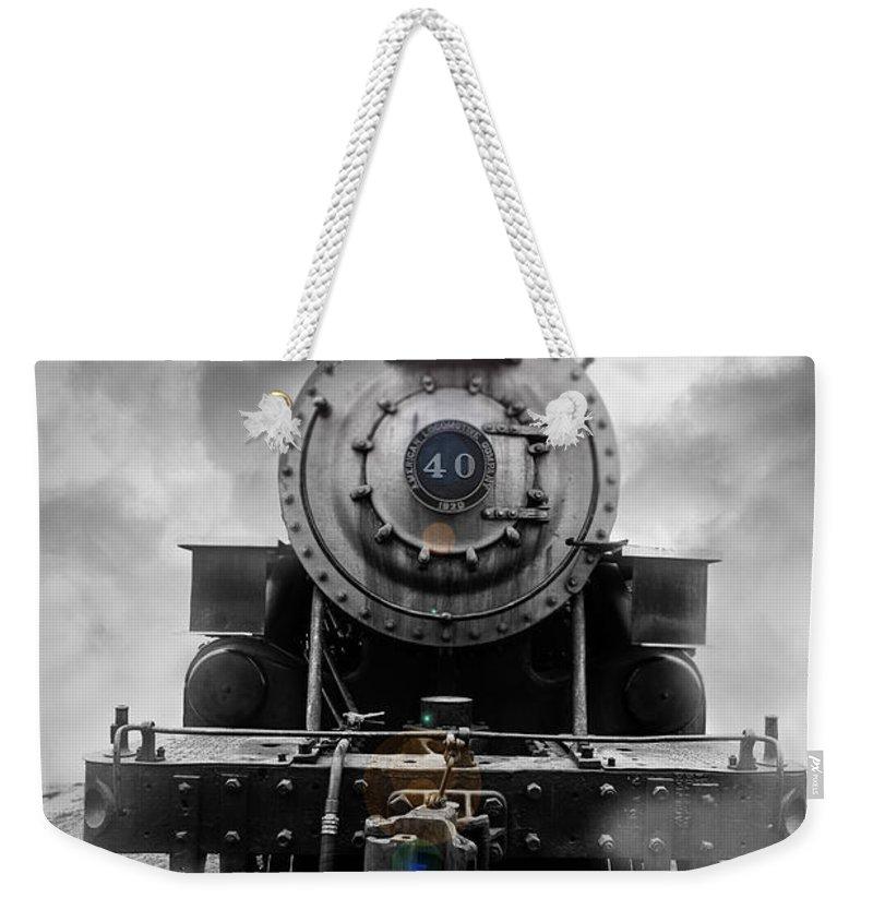 Train Tracks Weekender Tote Bags