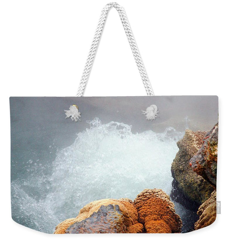Hotspring Weekender Tote Bag featuring the photograph Steaming Hot Spring by Gaspar Avila