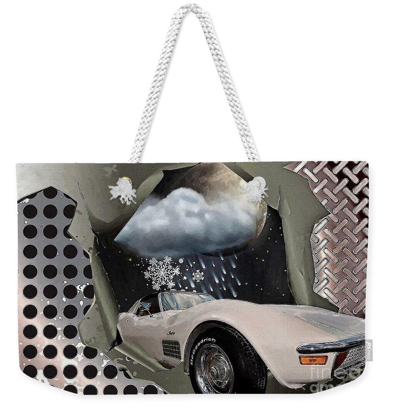 Steel Frame Stingray Weekender Tote Bag featuring the digital art Steel Frame Stingray by Liane Wright