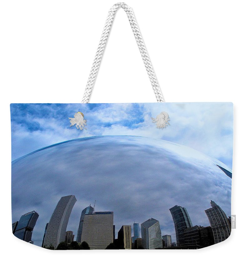 The Bean Weekender Tote Bag featuring the photograph Steel Globe by Zafer Gurel