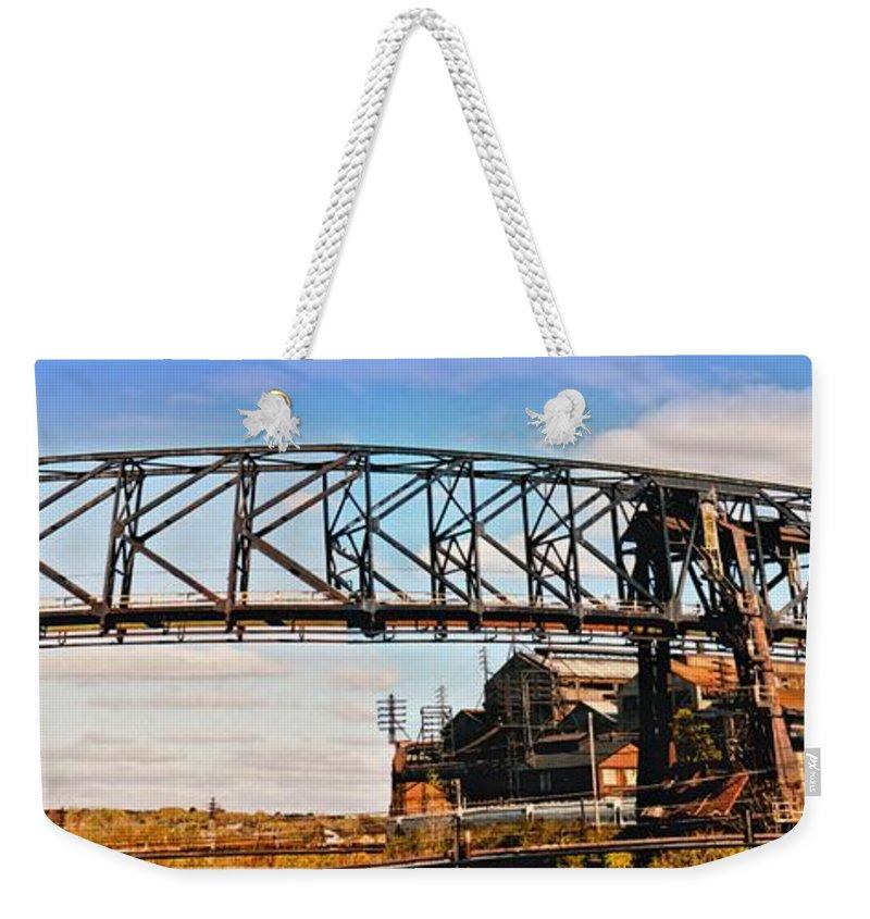 Steel Ore Crane - Bethlehem Pa Weekender Tote Bag for Sale by DJ Florek