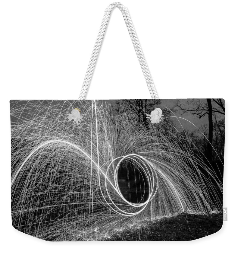 Weekender Tote Bag featuring the photograph Steel Wool 2 by Paul Brooks