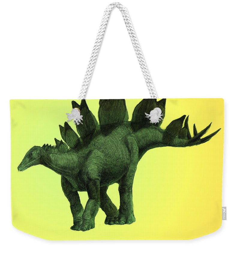 Stegosaurus Weekender Tote Bag featuring the photograph Stegosaurus by Spencer Sutton