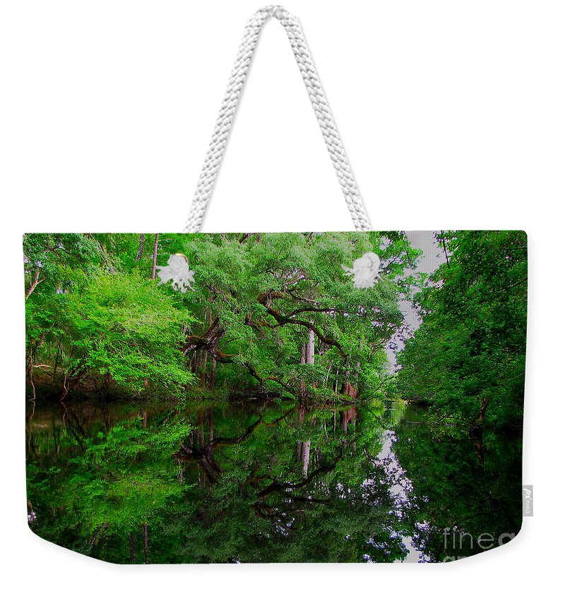 Steinhatchee River Weekender Tote Bag featuring the photograph Steinhatchee River by Barbara Bowen