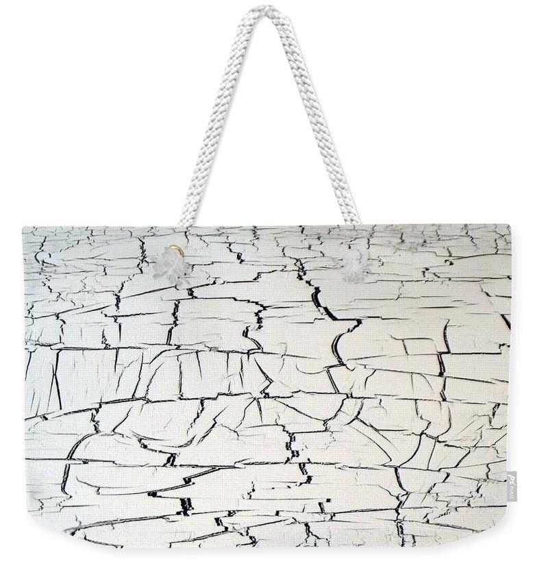 Dire Weekender Tote Bag featuring the painting Step On A Crack by Daniel Piskorski