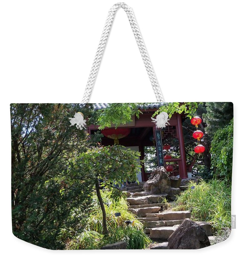 Garden Landscape Weekender Tote Bag featuring the photograph Stepping Into Harmony by Lingfai Leung