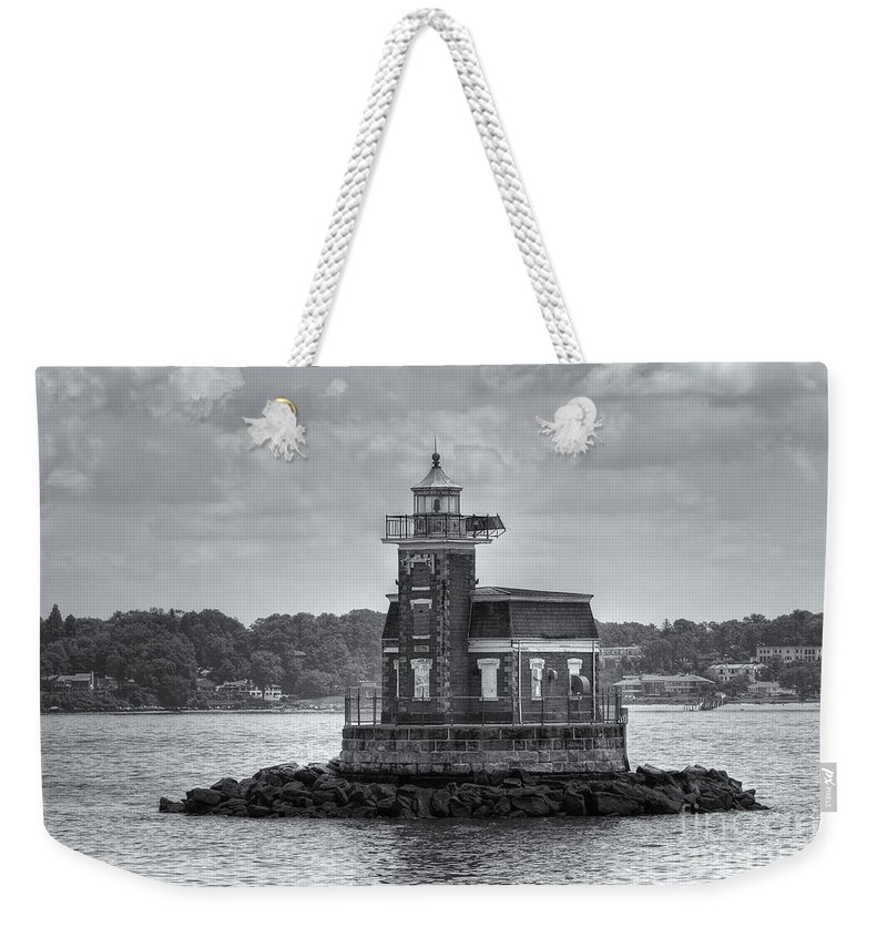 Clarence Holmes Weekender Tote Bag featuring the photograph Stepping Stones Lighthouse II by Clarence Holmes
