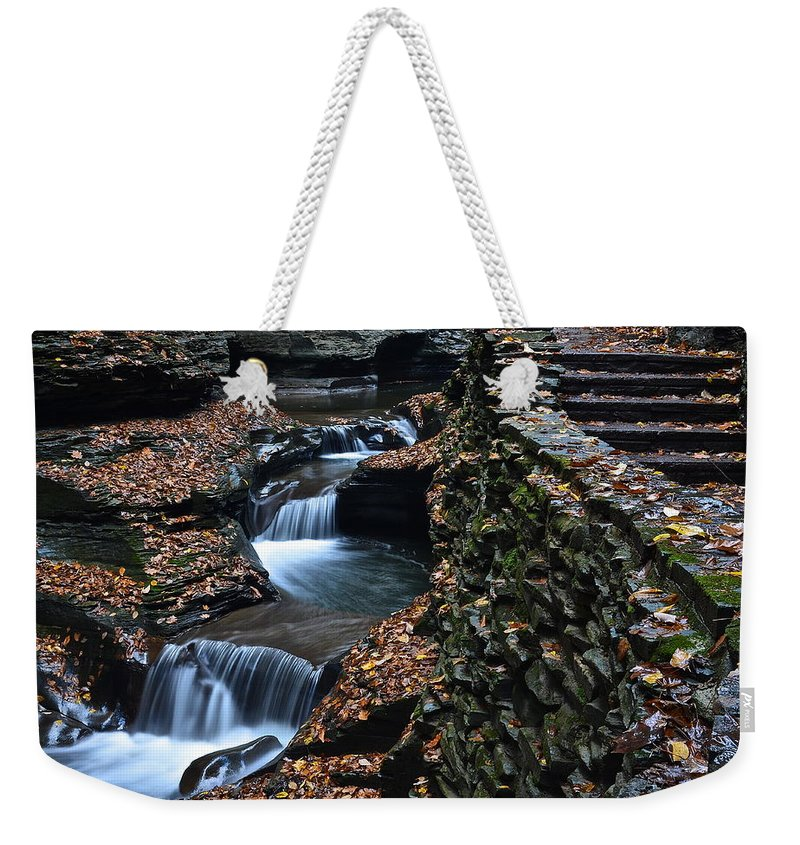 Steps Weekender Tote Bag featuring the photograph Steps by Frozen in Time Fine Art Photography