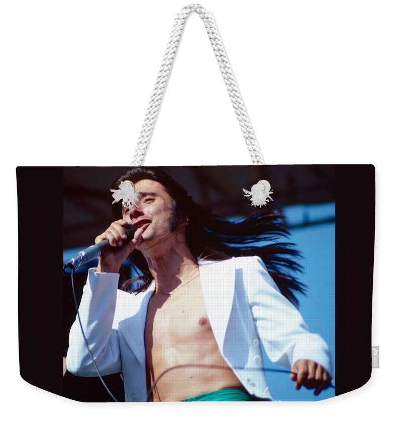 Concert Photos For Sale Weekender Tote Bag featuring the photograph Steve Perry Of Journey At Day On The Green by Daniel Larsen