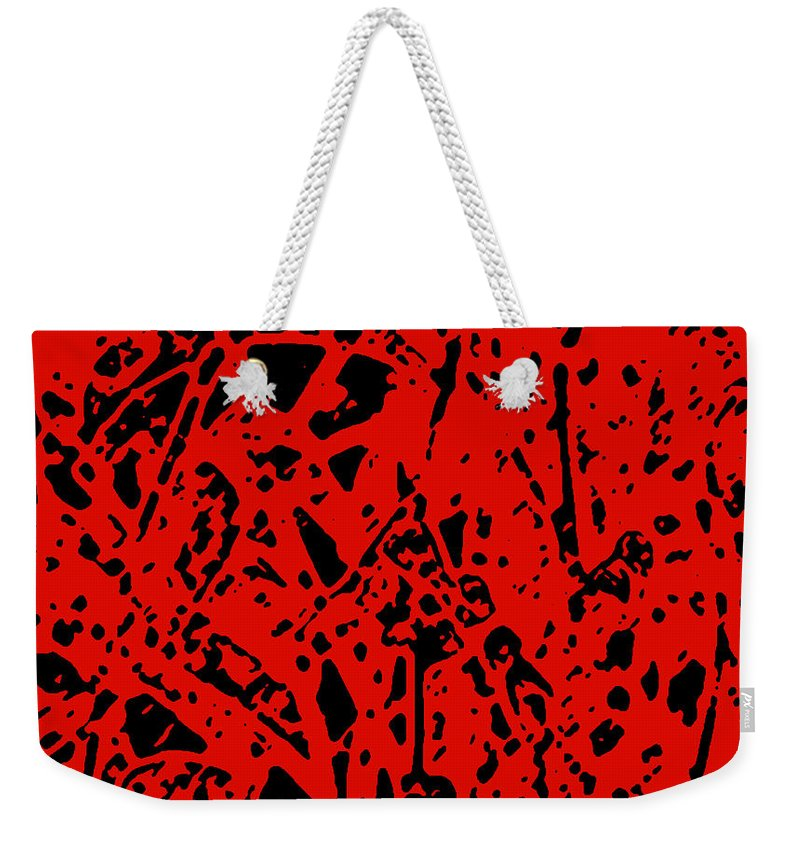 Abstract Weekender Tote Bag featuring the digital art Sticks And Stones by James Temple