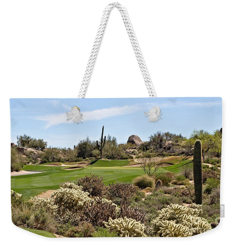 Scottsdale Weekender Tote Bag featuring the photograph Sticky Approach by Scott Pellegrin