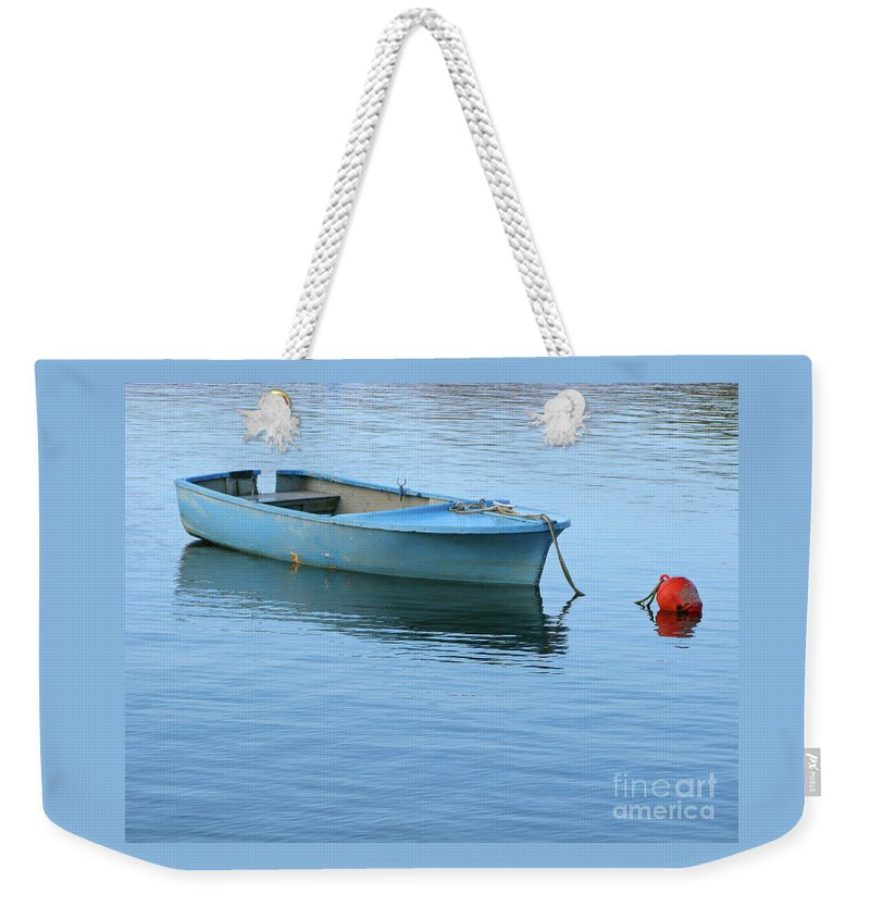 Rowboat Weekender Tote Bag featuring the photograph Still Afloat by Ann Horn