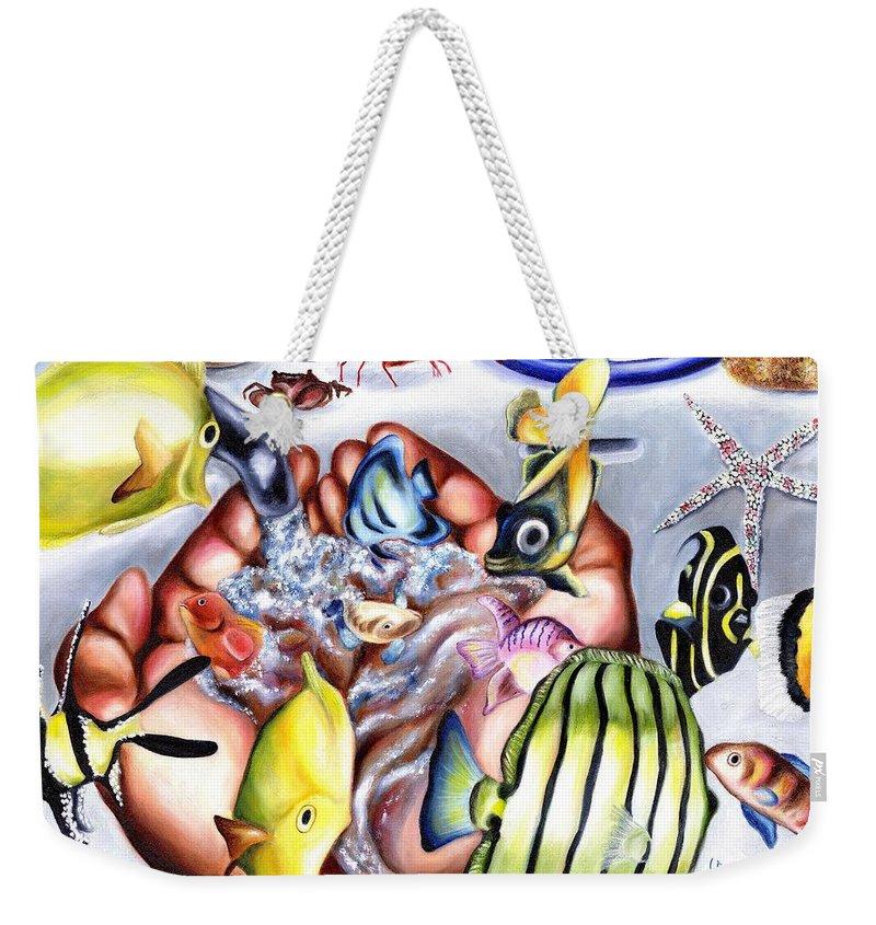 Dream Weekender Tote Bag featuring the painting Still Drunk by Hiroko Sakai