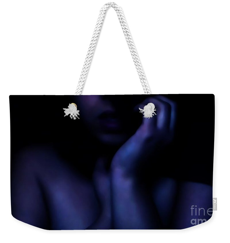 Blue Weekender Tote Bag featuring the photograph Still Got The Blues by Jessica Shelton
