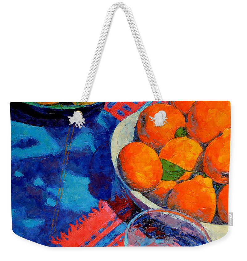 Still Life Weekender Tote Bag featuring the painting Still Life 2 by Iliyan Bozhanov