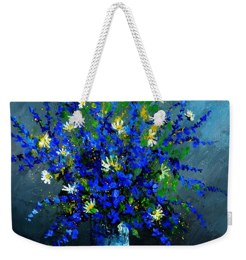 Flowers Weekender Tote Bag featuring the painting Still life 675130 by Pol Ledent