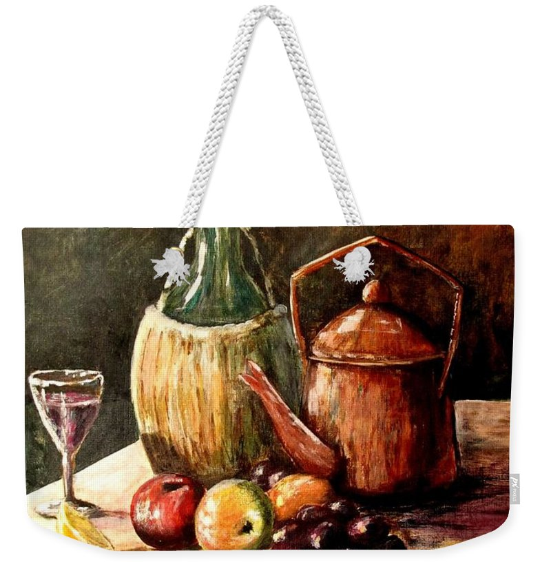 Still Life Weekender Tote Bag featuring the painting Still Life by Marilyn Smith