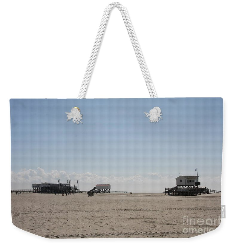 Beach Weekender Tote Bag featuring the photograph Stilt Houses - North Sea - Germany by Christiane Schulze Art And Photography