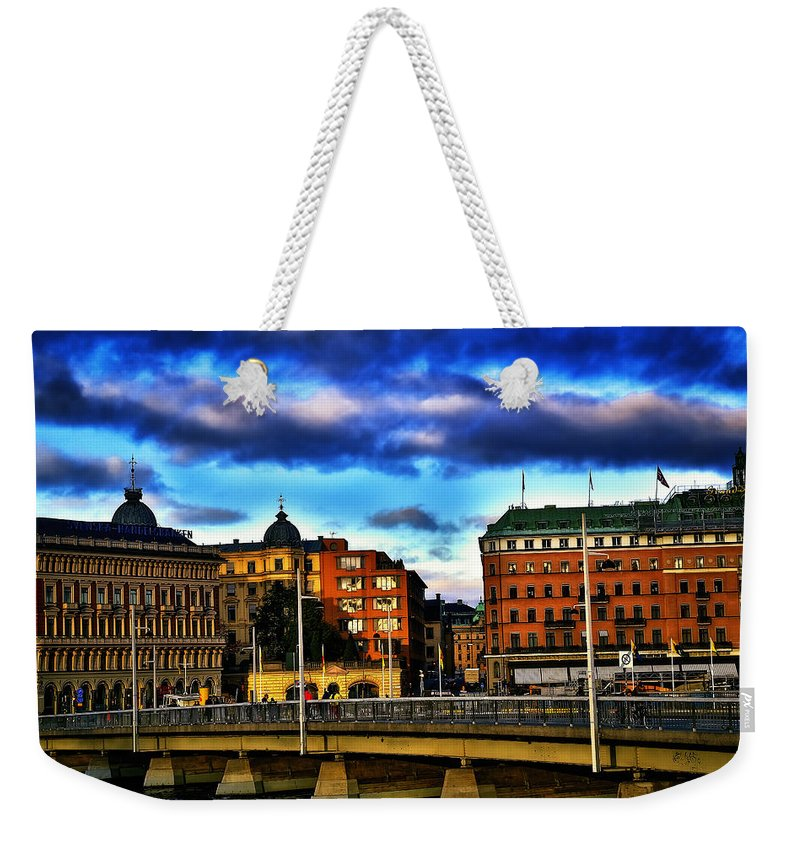 Stockholm Weekender Tote Bag featuring the photograph Stockholm In Color by Ramon Martinez