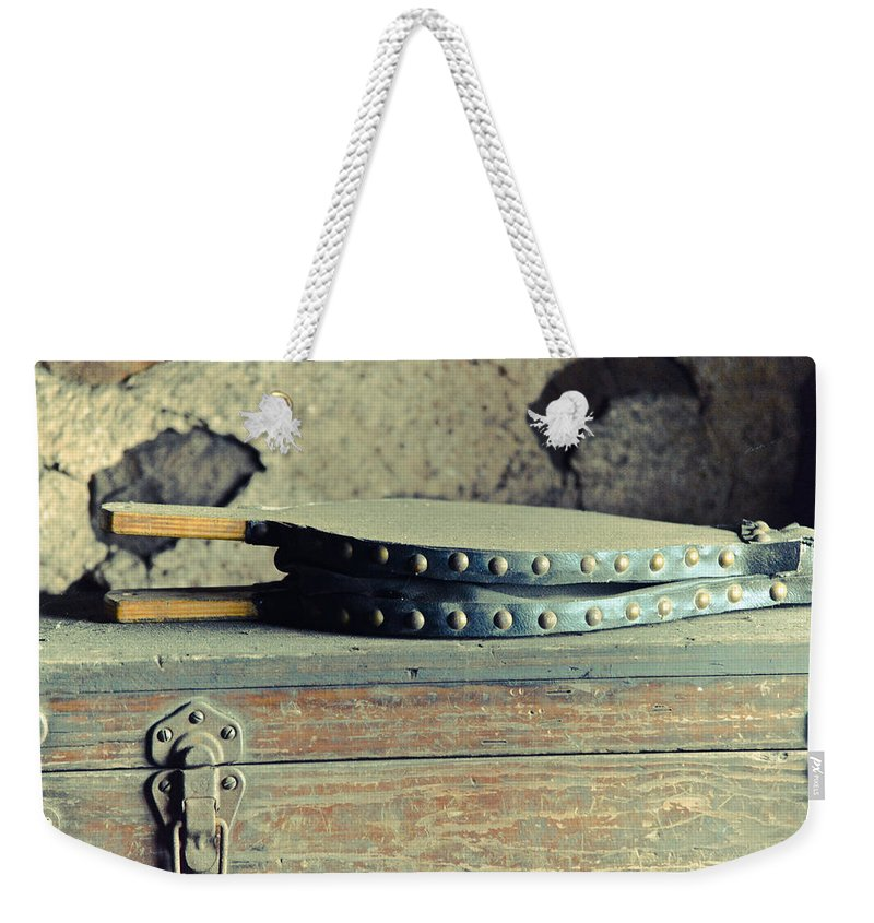 Fire Weekender Tote Bag featuring the mixed media Stoke The Fire by Trish Tritz