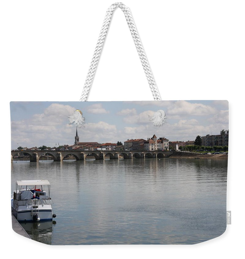 Bridge Weekender Tote Bag featuring the photograph Stone Arch Bridge - Macon by Christiane Schulze Art And Photography