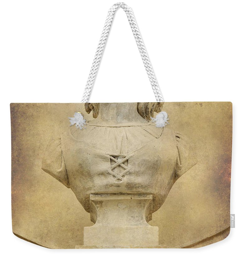 Bust Weekender Tote Bag featuring the photograph Stone Lady by Jaroslaw Blaminsky