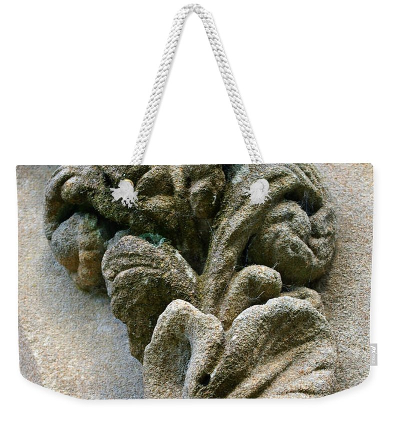 Stone Weekender Tote Bag featuring the photograph Stone Ornament 2 by Nancy L Marshall