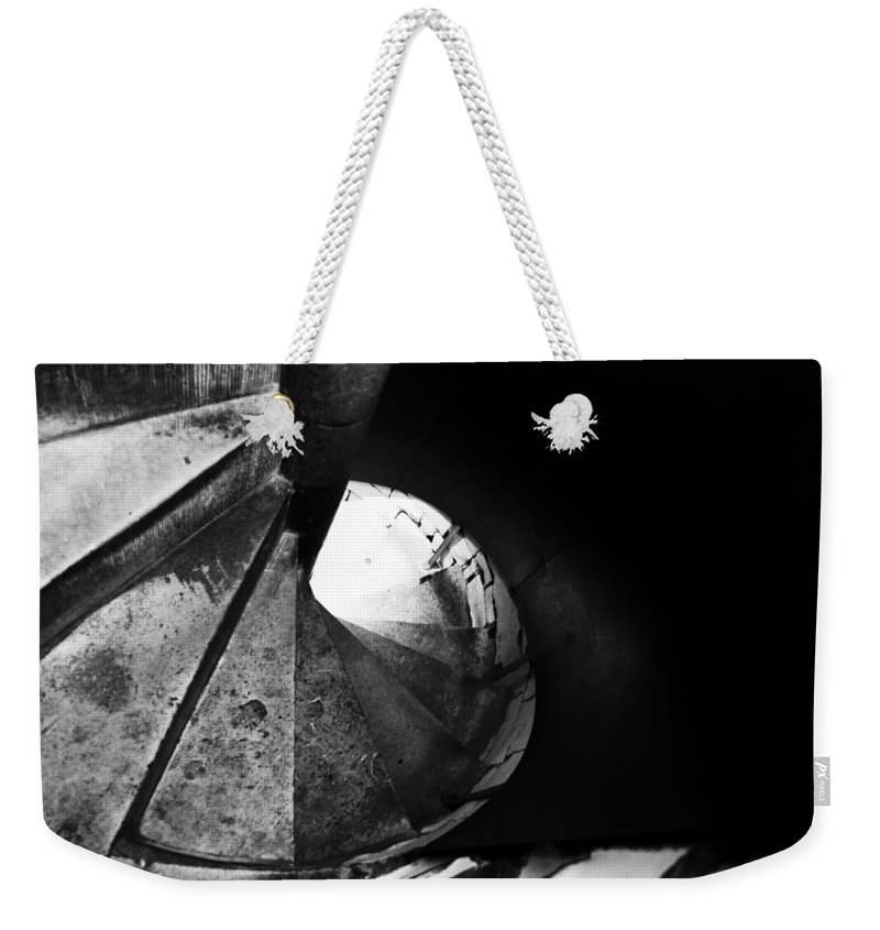 Britain Weekender Tote Bag featuring the photograph Stone Spiral Staircase by Christi Kraft