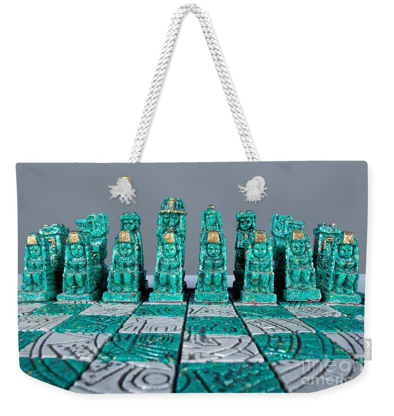 Action Weekender Tote Bag featuring the photograph Stoned On Chess by Alan Look