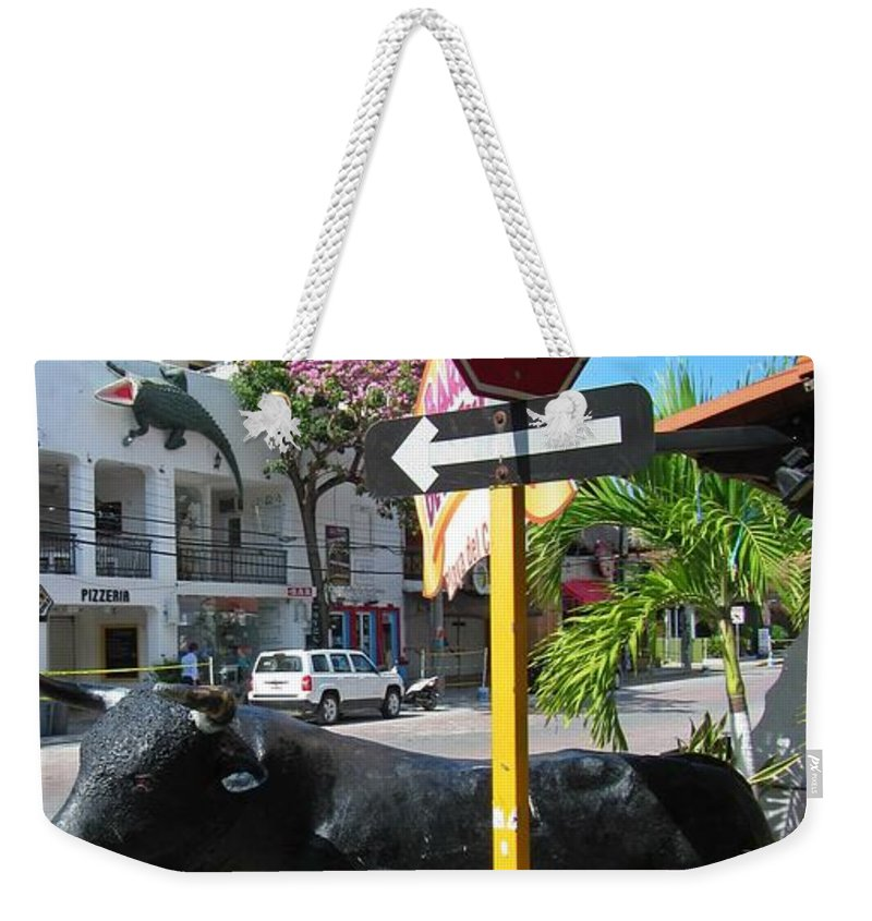 Stop Lots To Look At Weekender Tote Bag featuring the photograph Stop Lots To Look At by John Malone