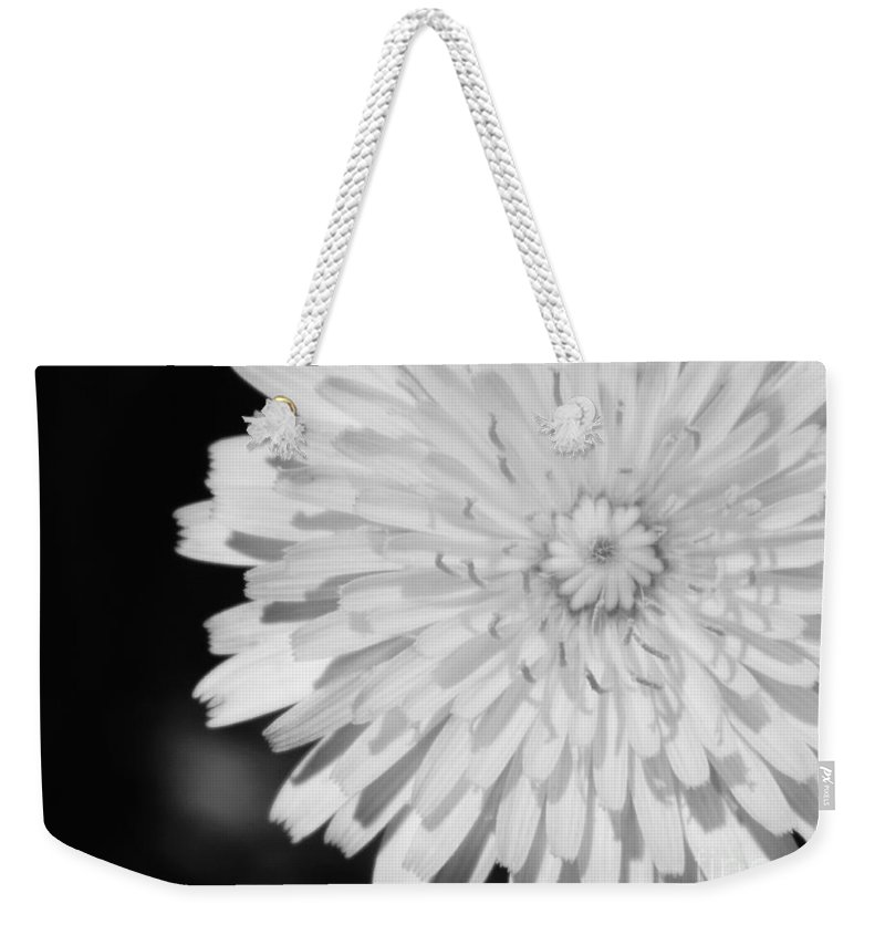 Flower Weekender Tote Bag featuring the photograph Stop Staring At Me by Andrea Anderegg
