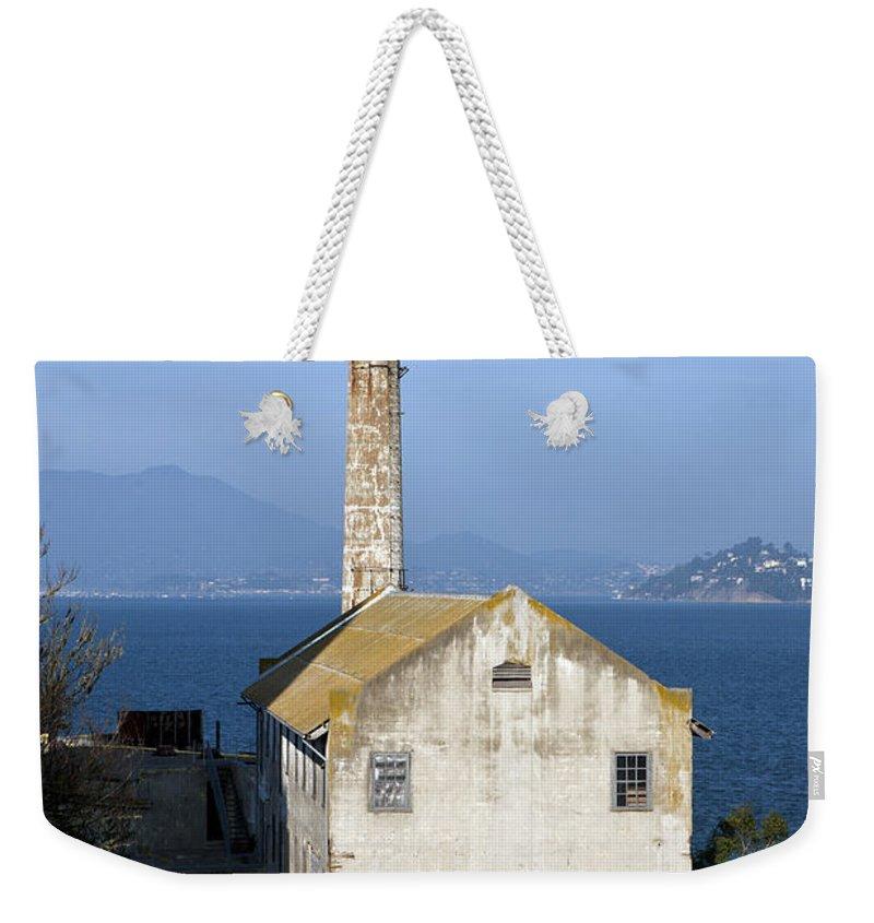 Alcatraz Weekender Tote Bag featuring the photograph Storehouse Alcatraz Island San Francisco by Jason O Watson