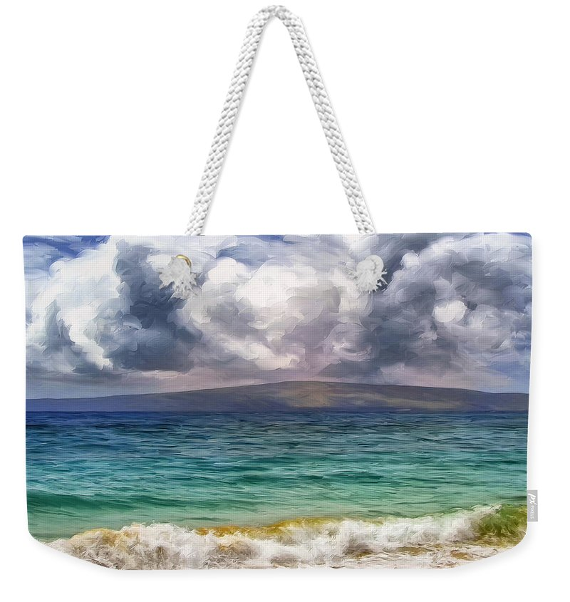 Storm Weekender Tote Bag featuring the painting Storm Across The Channel by Dominic Piperata