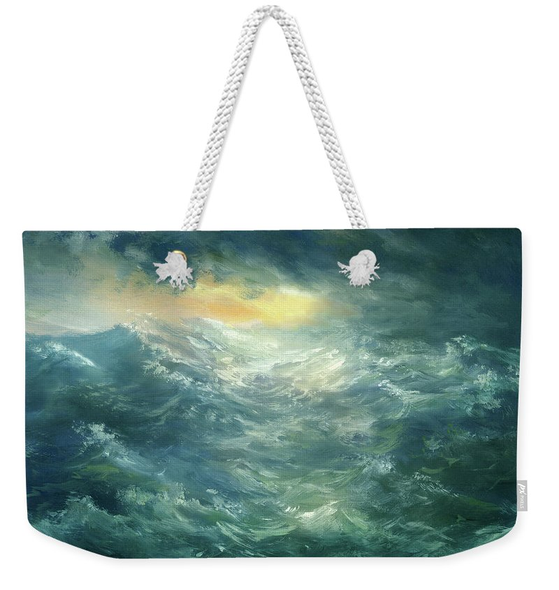 Scenics Weekender Tote Bag featuring the digital art Storm Is Coming by Pobytov