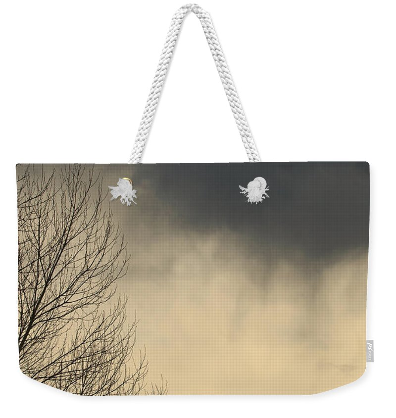Storm Weekender Tote Bag featuring the photograph Storm Virga Over Rogue Valley by Mick Anderson