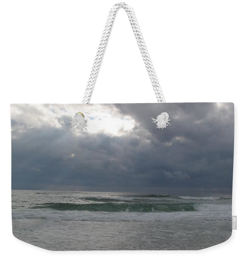 Clouds Weekender Tote Bag featuring the photograph Stormclouds Over The Sea by Christiane Schulze Art And Photography
