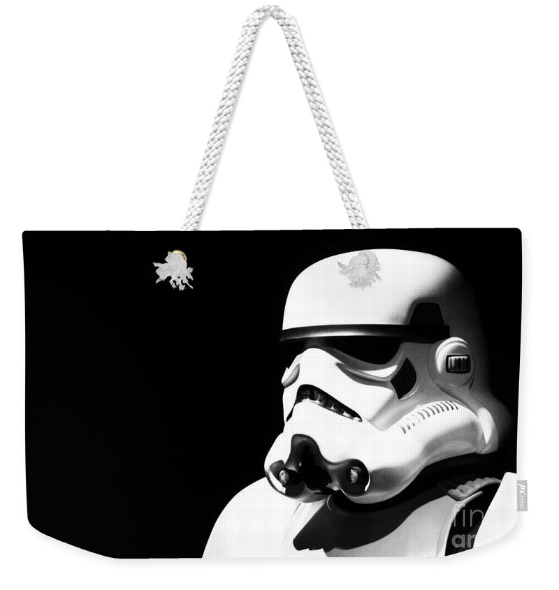 Star Wars Weekender Tote Bag featuring the photograph Stormtrooper by Chris Thomas