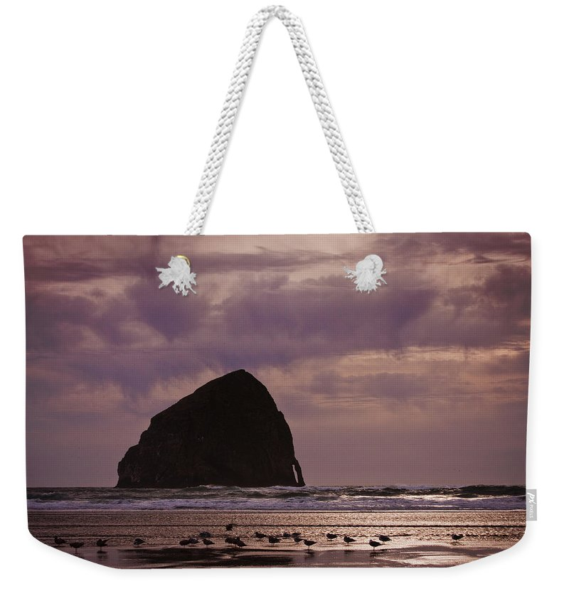 Stormy Sunset Weekender Tote Bag featuring the photograph Stormy Sunset by Wes and Dotty Weber