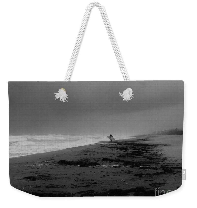 Keri West Weekender Tote Bag featuring the photograph Stormy Surf Spot by Keri West