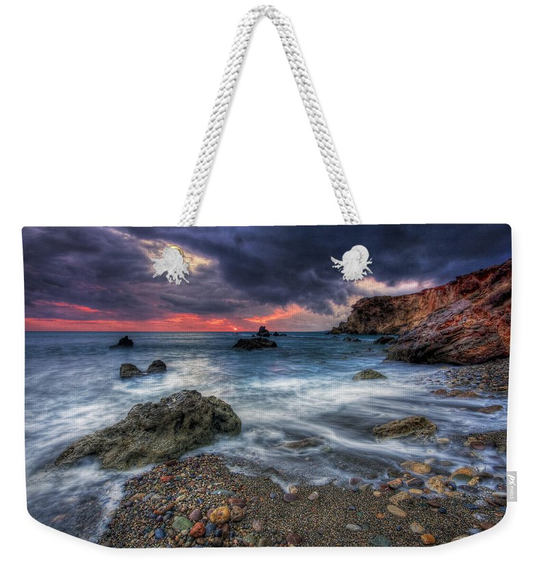 Mediterranean Weekender Tote Bag featuring the photograph Stormy Winter. by Milan Gonda