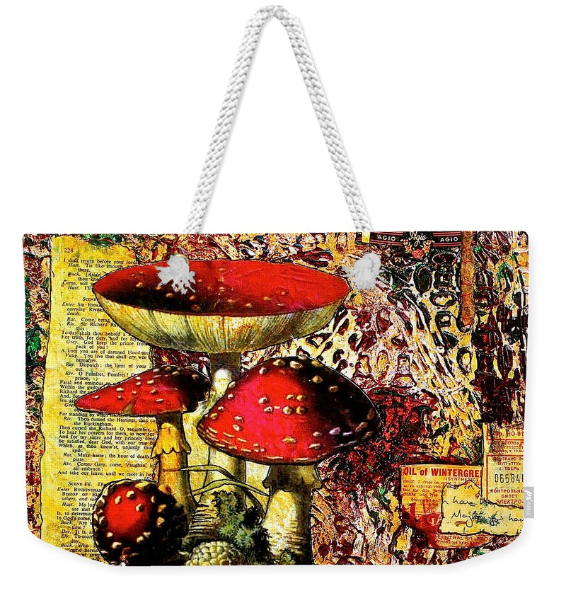 Mixed Media Weekender Tote Bag featuring the painting Storytime by Bellesouth Studio