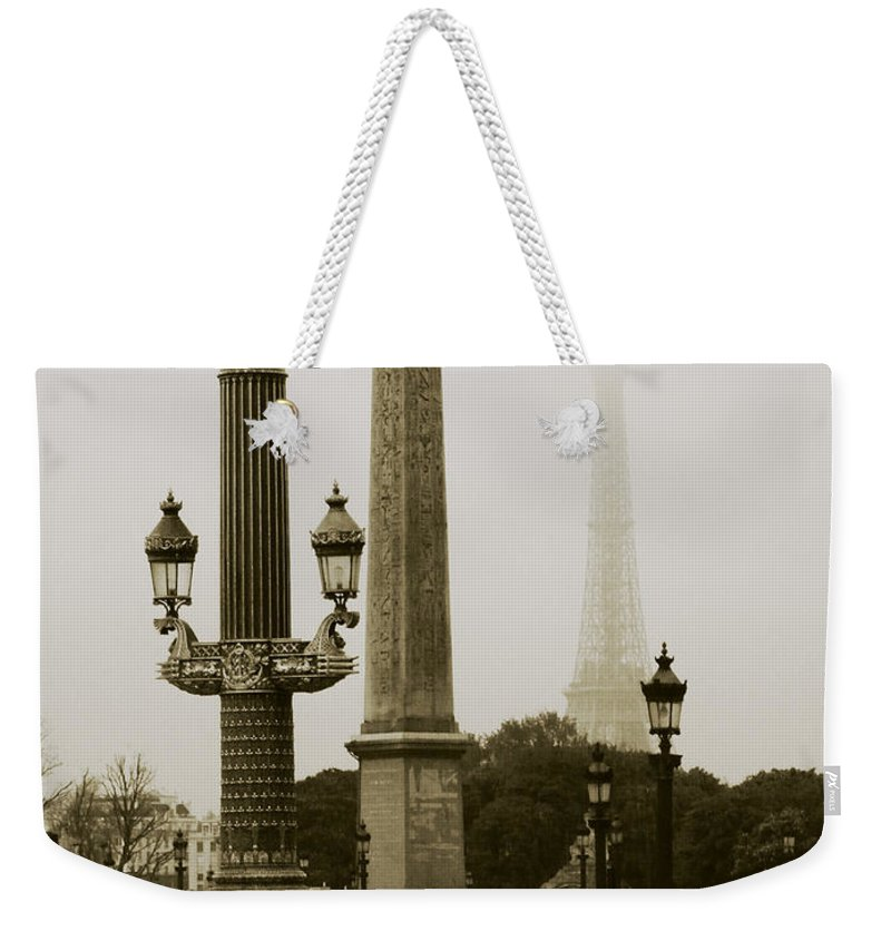 Cityscape Weekender Tote Bag featuring the photograph Straight Lines In Paris by Rabiri Us