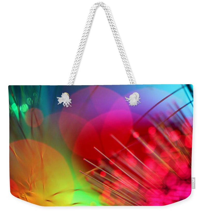 Abstract Weekender Tote Bag featuring the photograph Strange Days by Dazzle Zazz