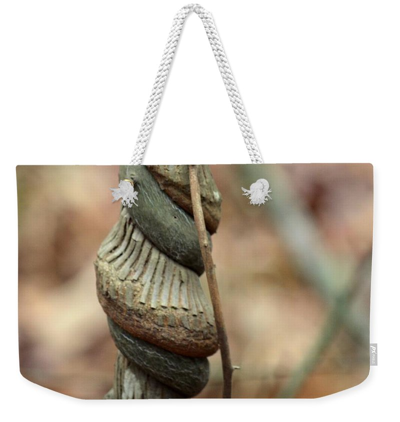 Strangled By Nature Weekender Tote Bag featuring the photograph Strangled By Nature by Maria Urso