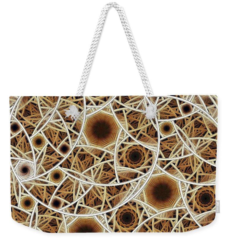 Malakhova Weekender Tote Bag featuring the digital art Straw Mosaic by Anastasiya Malakhova
