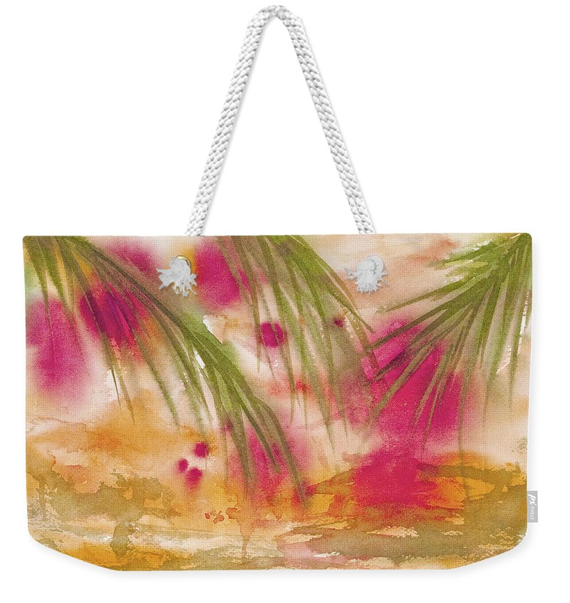 Abstract Weekender Tote Bag featuring the painting Strawberry Moon by Darice Machel McGuire