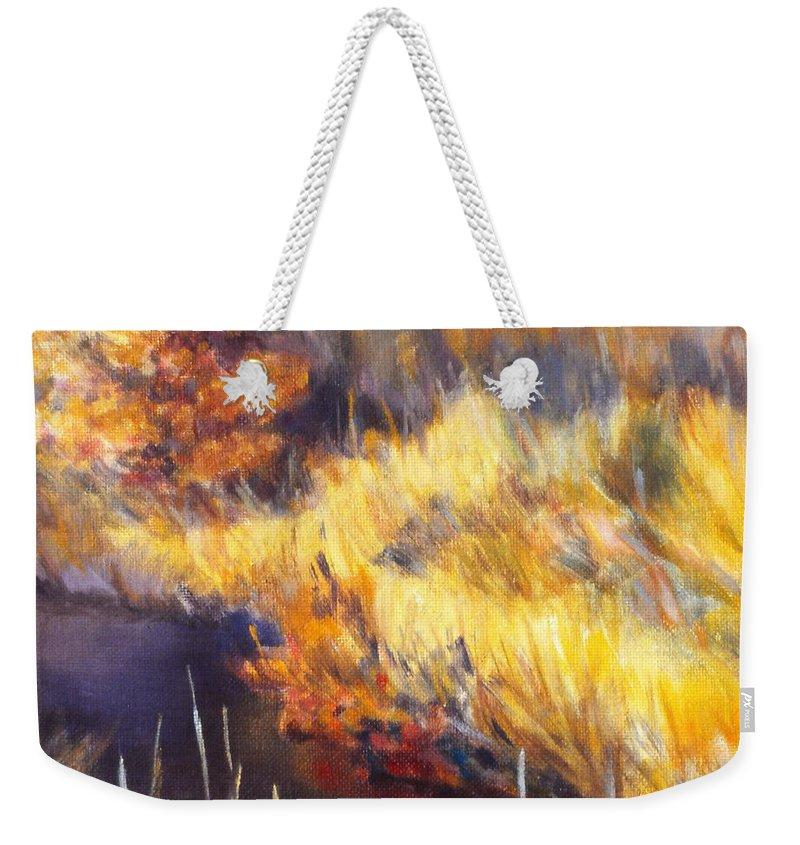 Stream Weekender Tote Bag featuring the painting Stream by Kendall Kessler