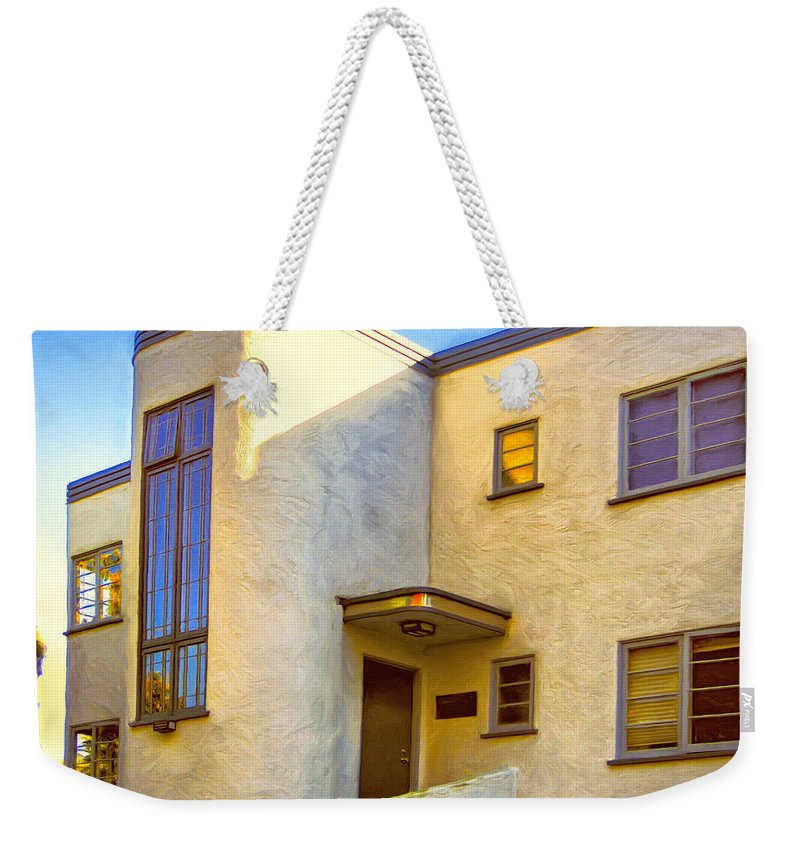 Streamline Modern Weekender Tote Bag featuring the painting Streamline Moderne 2 by Dominic Piperata