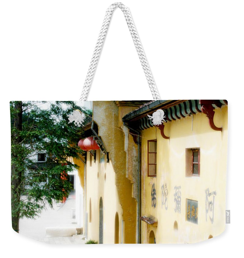 Anhui Province Weekender Tote Bag featuring the photograph Street In Anhui Province China by Tracy Winter